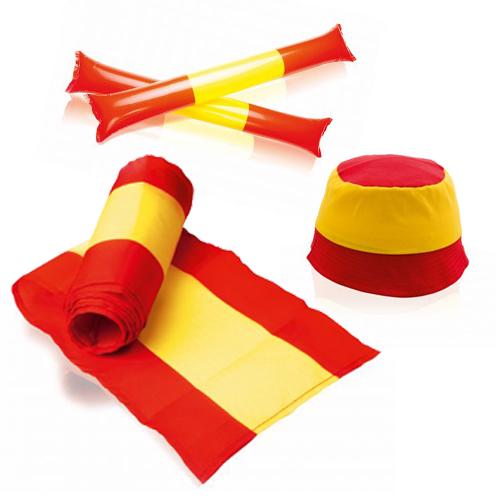 Merchandising con la bandera de España
